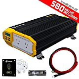 refrigerator battery backup - KRIËGER 2000 Watt 12V Power Inverter Dual 110V AC Outlets, Car Inverter Installation Kit. Automotive Back Up Power Supply For Blenders, Vacuums, Power Tools. MET Approved To UL and CSA