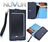 Navy Blue [E x p o s e] Clutch Cover Wallet Cell Phone Case Fits Blu Studio 5.0 S D560