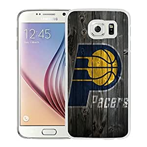 New Custom Design Cover Case For Samsung Galaxy S6 Indiana Pacers 1 White Phone Case
