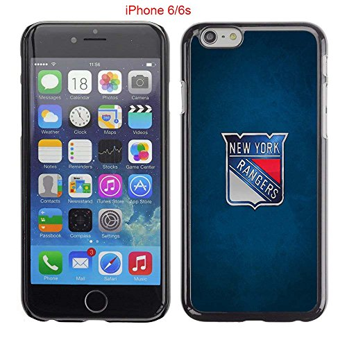 iPhone 6 Case, iPhone 6S Cases, NY Rangers Hockey Team logo 01 Drop Protection Never Fade Anti Slip Scratchproof Black Hard Plastic Case (Player Record Sherwood)
