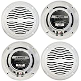 Magnadyne 2 Pairs Of WR45W 5 Inch Waterproof Marine, Boat, Hot Tub, Outdoor Speaker with Integrated Plastic Grill - White
