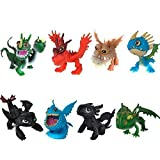 How to Train Your Dragon 8pcs/set 5-6.5cm PVC Action Figures Toy Doll Night Fury toothless dragon