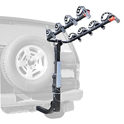 Image of Allen Sports Premier Hitch Mounted 4-Bike Carrier for Vehicles with External Spare Tires, Model S645 Bike Racks