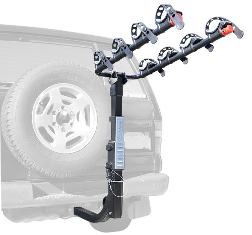 Price comparison product image Allen Sports Premier Hitch Mounted 4-Bike Carrier for Vehicles with External Spare Tires