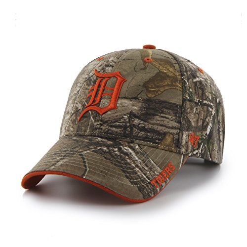 MLB Detroit Tigers '47 Frost MVP Camo Adjustable Hat, One Size Fits Most, Realtree Camouflage