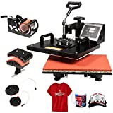 UBRTools 5 in 1 Heat Press Machine Digital Transfer Sublimation T-Shirt Mug Hat Plate Cap