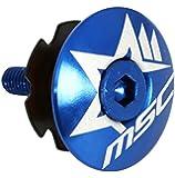 MSC Bikes ARBLUE - Tapón de dirección de ciclismo, color azul anodizado