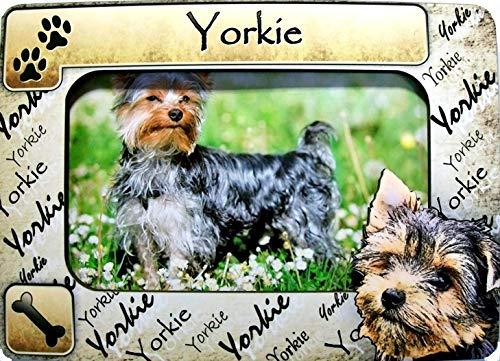 (Yorkie Picture Frame Fridge Magnet)