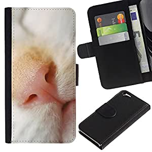 Stuss Case / Funda Carcasa PU de Cuero - Cat Nose Shorthair Cute Kitten Snout - Apple Iphone 6