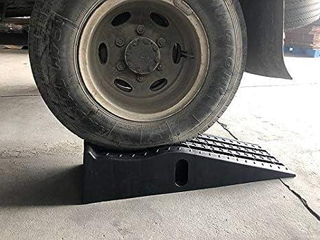 KATSU 2PCS Servicio pesado Taller de garaje de pl/ástico Servicio de auto rampas Extra ancho