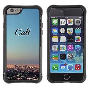SHIMIN CAO@ California Skyline City La Los Angeles Rugged Hybrid Armor Slim Protection Case Cover Shell For iphone 6 6S CASE Cover ,iphone 6 4.7 case,iphone 6 cover ,Cases for iphone 6S 4.7