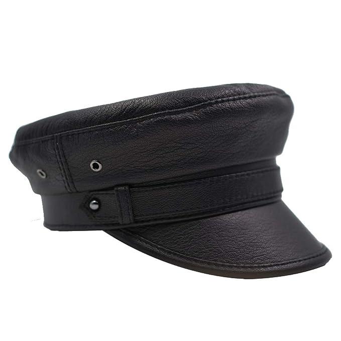Amazon.com: IFSUN Newsboy Hat - Gorra de piel con diseño de ...