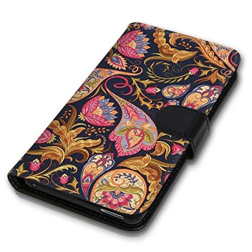 Wallet Book Style Flip Handy Tasche Case Schutz Hülle Schale Motiv Etui für Apple iPhone 4 / 4S - Design Flip MVD111