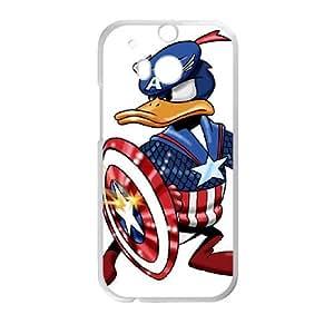HTC One M8 Case White Donald Duck Cell Phone Case Cover E5E3IL