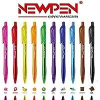 Caneta Retratil Clic Tinta Perfumada Newpen - Kit Com 10
