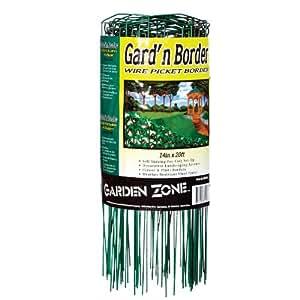 Origin Point 381420 20-Foot x 14-Inch Gard'n Border Wire Picket Fence, Green
