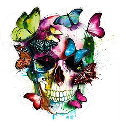 Hometom Sugar Skull Diamond 5D DIY Diamond Embroidery Painting Cross Stitch Arts Craft Canvas Wall Decor (Butterfly) ()