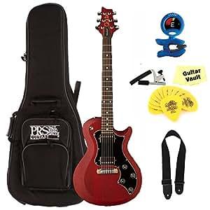 prs s2 singlecut standard satin electric guitar vintage cherry with guitarvault. Black Bedroom Furniture Sets. Home Design Ideas