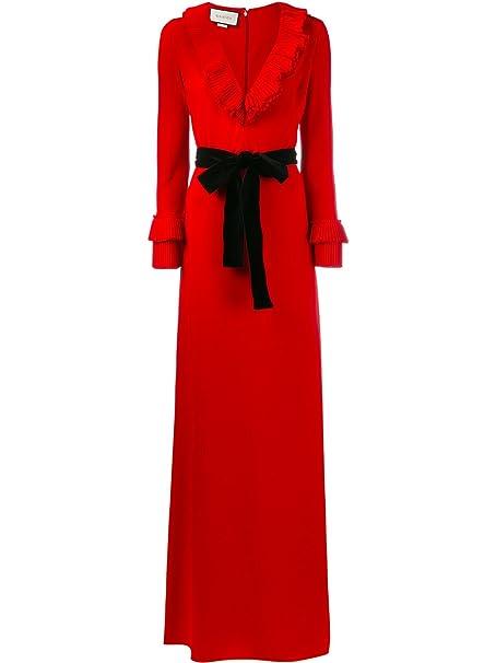 Gucci Mujer 457047X5L616587 Rojo Viscosa Vestido