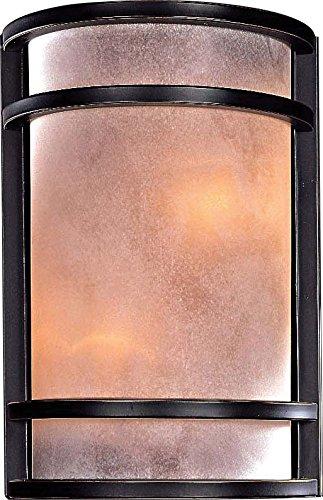 Minka Lavery Wall Sconce Lighting 345-37B, Glass Damp Bath Vanity Fixture, 2 Light, 120 Watts, Bronze 138 Aspen Bronze Finish