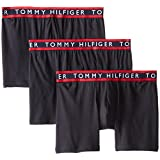 Tommy Hilfiger Men's 3-Pack Cotton Stretch Boxer Brief, Black, Medium/32-34
