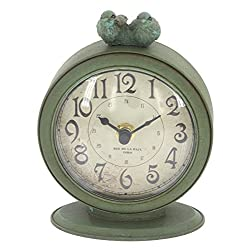 Sullivans 6 x 4.75 Antique French Style Perching Birds Table Clock