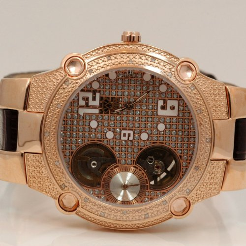 Aqua Master Mens Automatic Diamond Watch 0.20ctw W2123 by Aqua Master