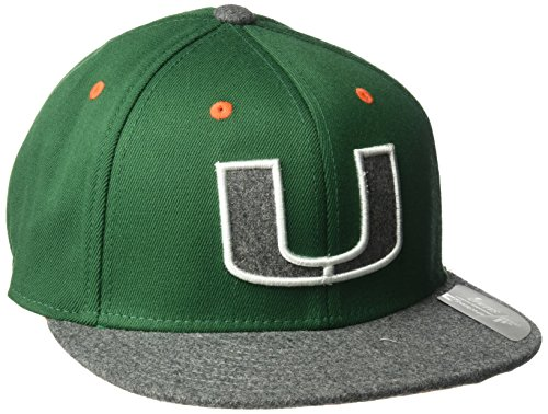 adidas NCAA Miami Hurricanes Square Crown Flex Team Color, Small/Medium, Green ()