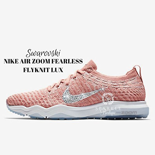 Swarovski NIKE, Nike Bling, NIKE AIR ZOOM FEARLESS FLYKNIT LUX Custom Nike, Bling Nike, Bedazzled by Sparkle Boutique