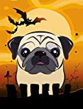 Cheap Caroline's Treasures BB1820CHF Halloween Fawn Pug Canvas House Size Flag, Multicolor, Large