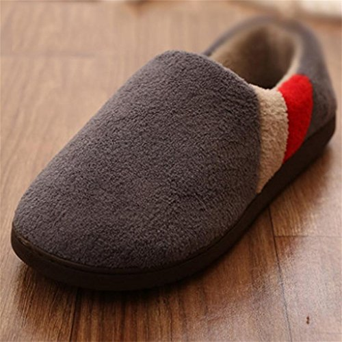 W&XY Winter Men Cotton Slippers Sizes House Slippers Package with Indoor Boots 45