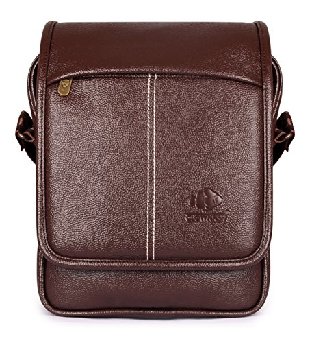 Regal Crossbody Bag | Vegan Leather Shoulder Bag | Messenger Bag-Chocolate