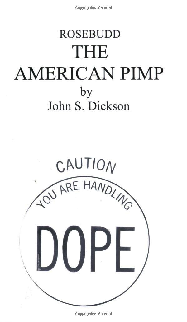Read Online Rosebudd the American Pimp PDF