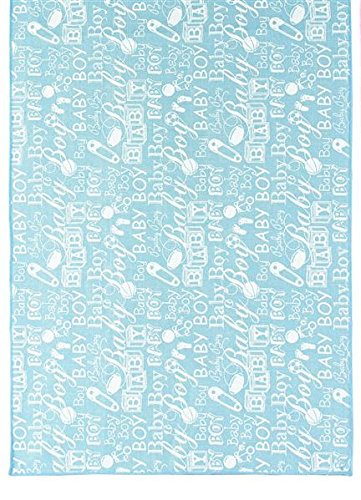 Craig Bachman 72-inch Rectangle Polyester Table Runner Boy Baby Shower, Restaurant Banquet Blue White -