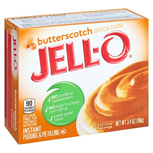 - JELL-O Butterscotch Instant Pudding & Pie Filling Mix (3.4 oz Box)