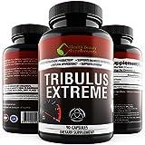 ** TRIBULUS EXTREME ** Testosterone Booster With Natural Estrogen Blocker - 45% Steroidal Saponins – Libido Booster – Strength – Stamina – Aphrodisiac For Men / Women - Tribulus Terrestris Organic