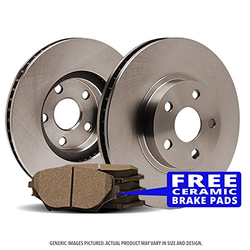 (Rear Kit)(OE SPEC)(Perfect-Series) 2 Disc Brake Rotors & 4 Ceramic Pads(F150 Mark LT)(6lug)-(Ships from USA)