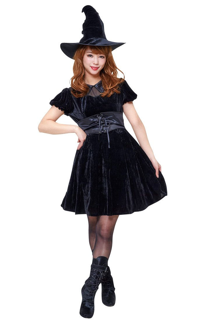 Halloween costume Halloween series witchladydarkness women's 155-165 cm total length 84 cm