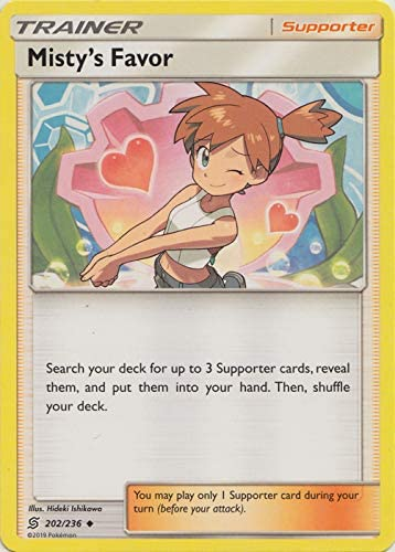 202//236 Misty/'s Favor Uncommon Trainer Reverse Holo Unified Minds Pokemon Card