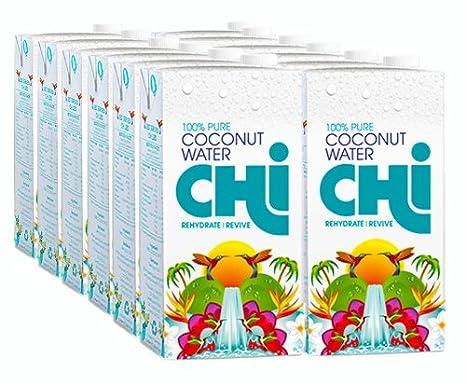 Chi 100% Pura Aagua de Coco (1 litrol x 12): Amazon.es ...