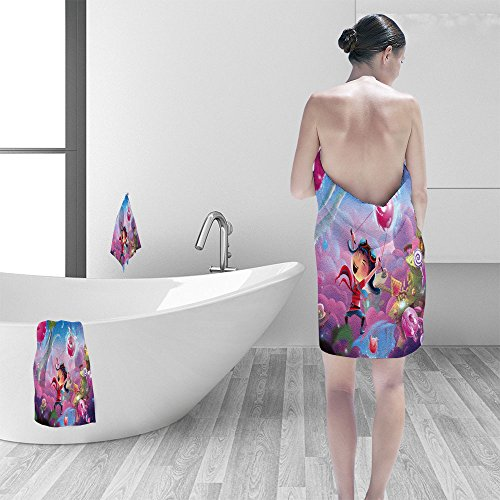 Naughty 3 Piece - Bath towel set Creative Illustration and Innovative Art Naughty Kid's Fantastic Happy World and WonderLand! Realistic Fantastic Cartoon Style Artwork Scene Wallpaper Story Background Card Design