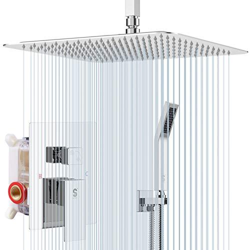 Sistema de ducha de techo 12 Cromo Pulido
