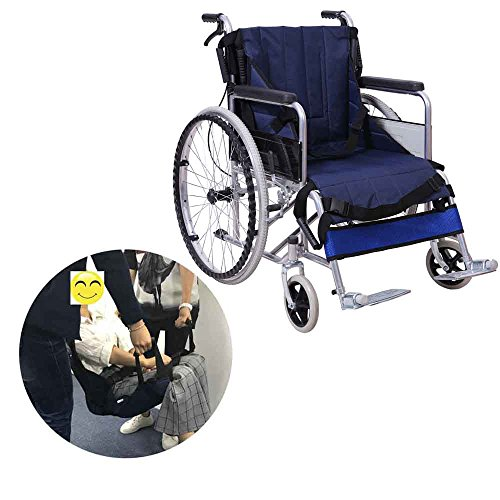 Wheelchair Transfer Boards Belt Slide Board Transferring Sliding Medical Lift Sling Chair Safety Mobility Aids Equipment for Bariatric Patient,Elderly,Disabled (Blue - 4 Handles)