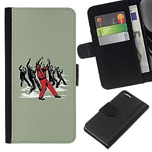 // PHONE CASE GIFT // Moda Estuche Funda de Cuero Billetera Tarjeta de crédito dinero bolsa Cubierta de proteccion Caso Apple Iphone 5C / Funny Dancing Zombie /