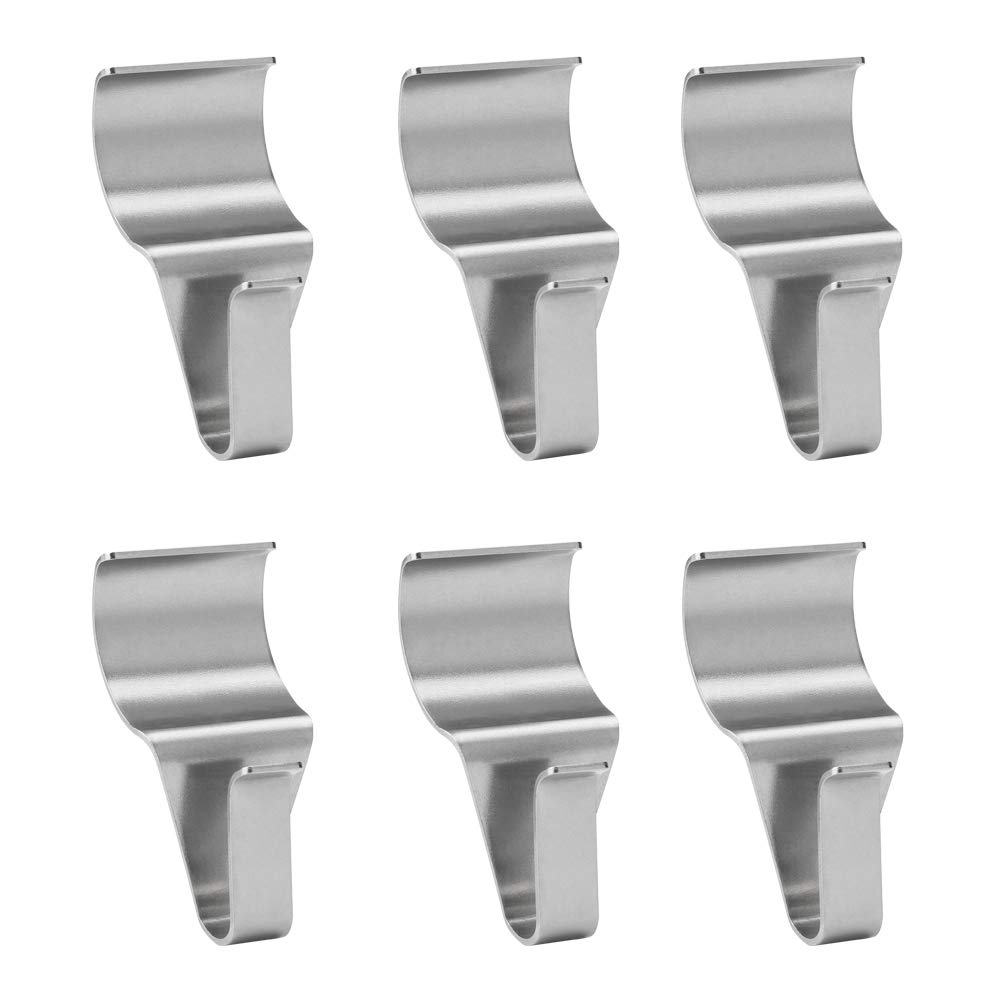 WISH Vinyl Siding Hooks (6 Pack), Heavy Duty Stainless Steel Low Profile No-Hole Hanger Hooks WISH Direct