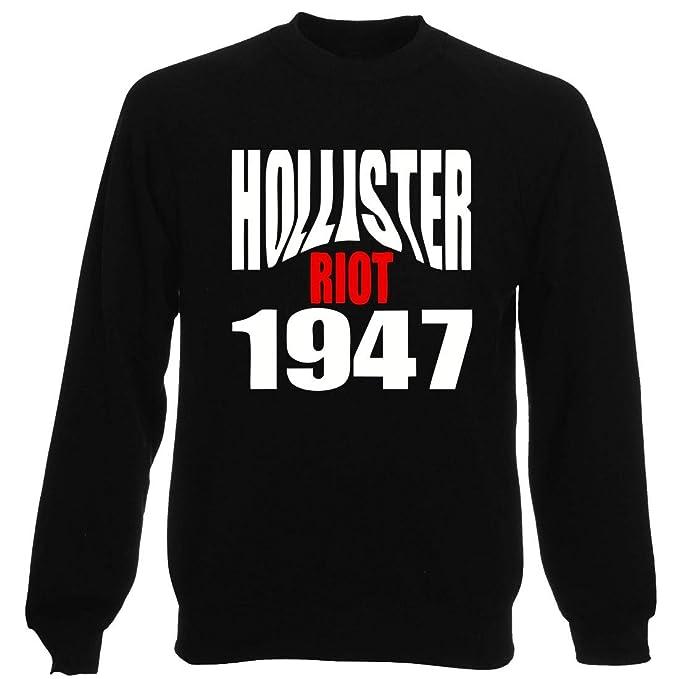 Sudadera Gargantilla Hombre Negra oldeng00523 Hollister Riot 1947 : Amazon.es: Ropa y accesorios