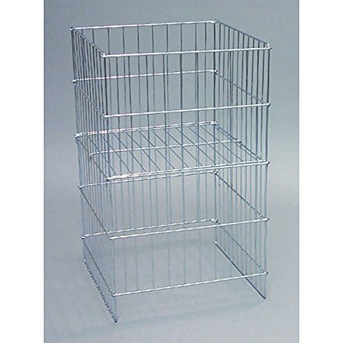 Set of 5 New Chrome Wire Dump Basket w/Adjustable Shelf 18''w x 17''d x 30''h by Wire Dump Basket