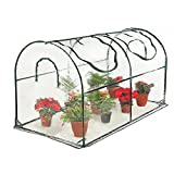 Seven colors house Reinforced Portable Mini Greenhouse 35.4''x70.8''x39'' Vegetable Plant Mini Arc Greenhouse with Clear Cover for Indoor & Outdoor Plants
