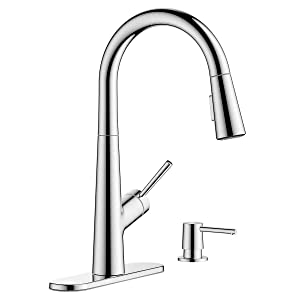Hansgrohe Lacuna Pull Down Kitchen Faucet Steel Optik