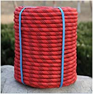 Climbing Rope Red 10mm/12mm/14mm/16mm Outdoor Climbing Rope, Mountain Adventure Rappelling Rope, High-Strength